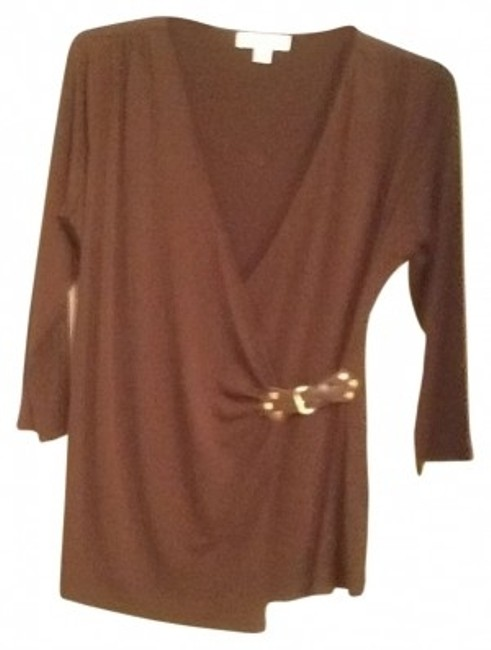 Preload https://item2.tradesy.com/images/michael-michael-kors-brown-blouse-size-12-l-22676-0-0.jpg?width=400&height=650