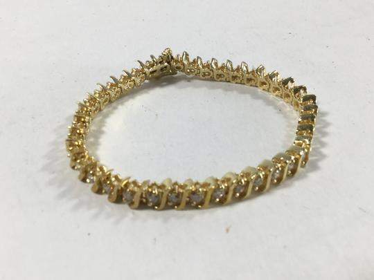 Other 3.75 ct 14k Yellow gold S Curve diamond bracelet