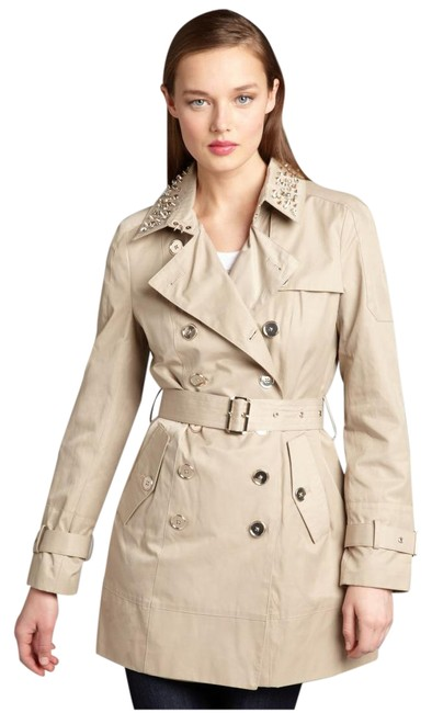 Item - Tan Lorissa Trench with Studded Collar Coat Size 6 (S)