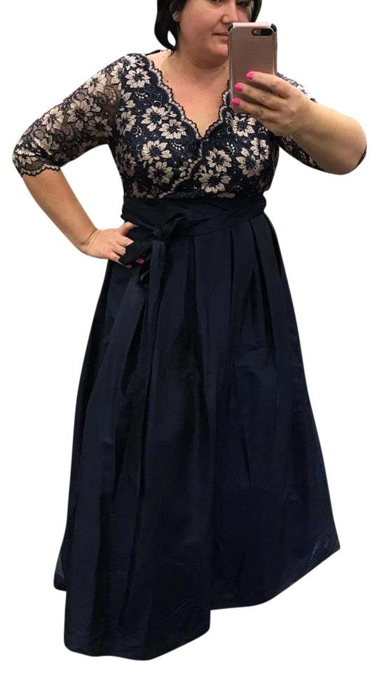 David\'s Bridal Navy Blue Ball Gown Long Night Out Dress Size 18 (XL ...