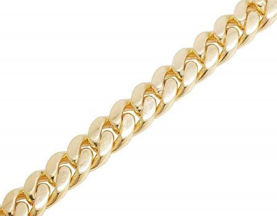 Jewelry Unlimited Men's Real Solid 10K Yellow Gold Miami Cuban Link Bracelet 11.5MM
