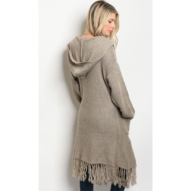 LoveRiche Sweatercoat Fringe Cardigan Boho Sweater