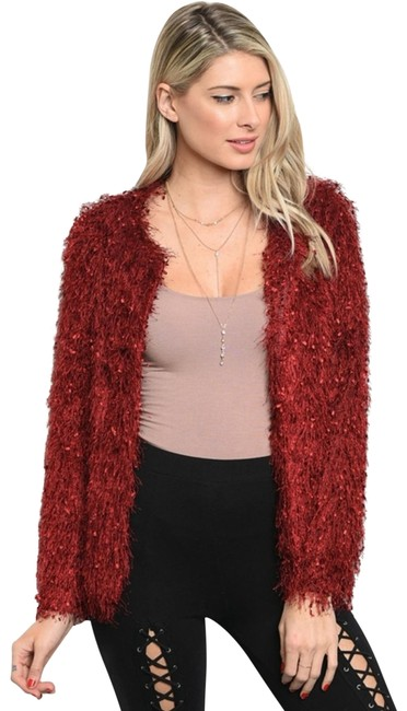 Preload https://img-static.tradesy.com/item/22676417/loveriche-faux-fur-fuzzy-cardigan-jacket-new-burgundy-eyelash-fully-lined-wine-sweater-0-1-650-650.jpg