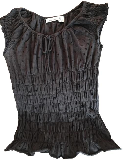 Preload https://img-static.tradesy.com/item/22676429/dkny-chocolate-brown-sleeveless-cotton-with-ruching-at-waist-blouse-size-10-m-0-1-650-650.jpg