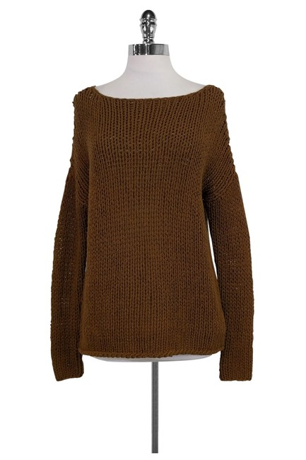 Preload https://img-static.tradesy.com/item/22676508/vince-brown-knit-cardigan-size-12-l-0-0-650-650.jpg