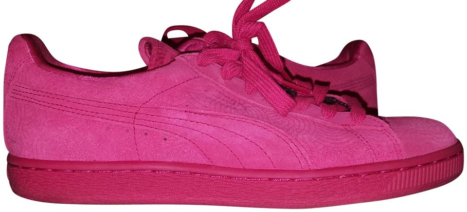 nouveaux styles 91a1f 2cb34 Puma Rose Red Suede Classic Sneakers Size US 8 Regular (M, B) 64% off retail