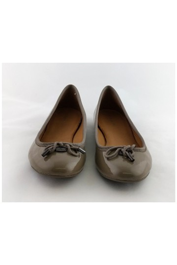Coach Leather Taupe Flats