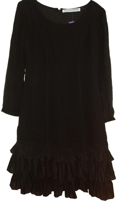 Preload https://img-static.tradesy.com/item/22676535/black-paris-with-ruffles-and-sheer-sleeve-mid-length-night-out-dress-size-10-m-0-1-650-650.jpg