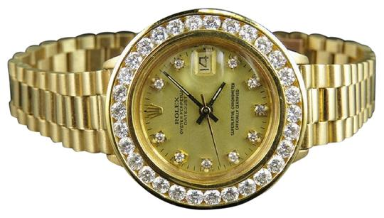 Preload https://img-static.tradesy.com/item/22676551/rolex-yellow-gold-ladies-26mm-president-datejust-18k-69178-diamond-35-ct-watch-0-1-540-540.jpg