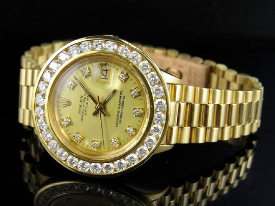 Rolex Ladies 26MM President Datejust 18K 69178 Diamond Watch 3.5 Ct