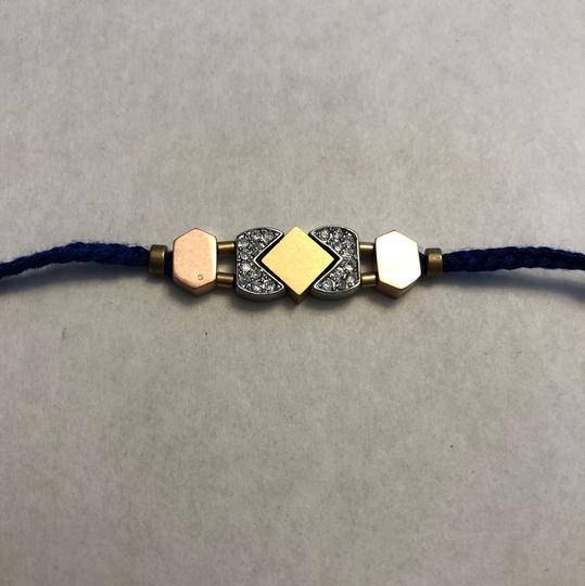Madewell Braided string bracelet with tricolor hardware