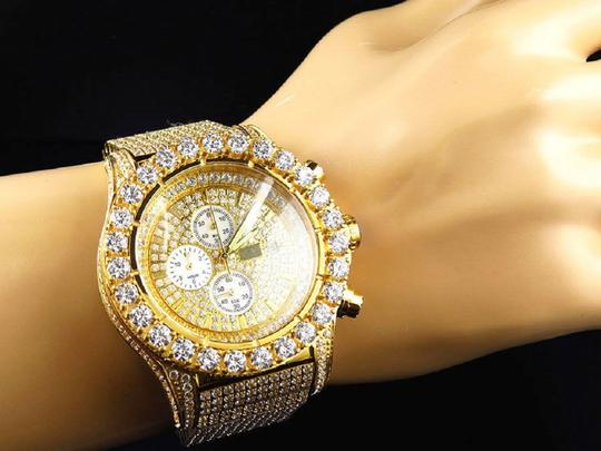 Jewelry Unlimited Mens Jewelry Unlimited Jojino Joe Rodeo Simulated Diamond Watch 48MM