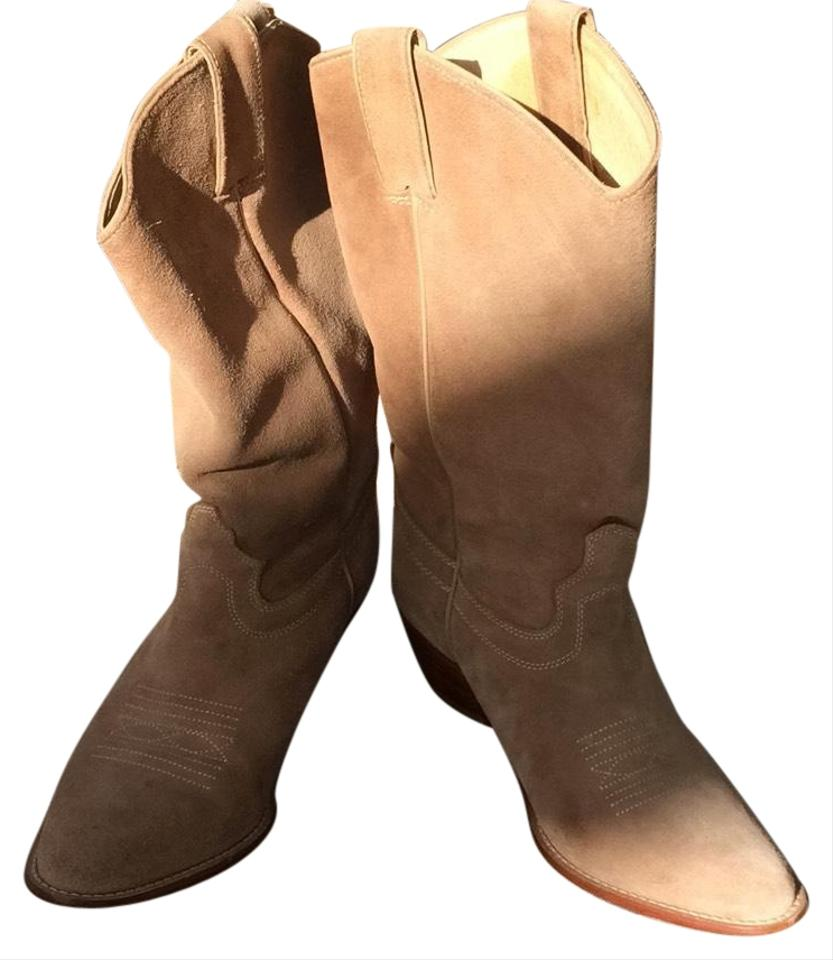 33248fa5c5a Saks Fifth Avenue Tan Suede Western Boots/Booties Size US 8 Regular (M, B)