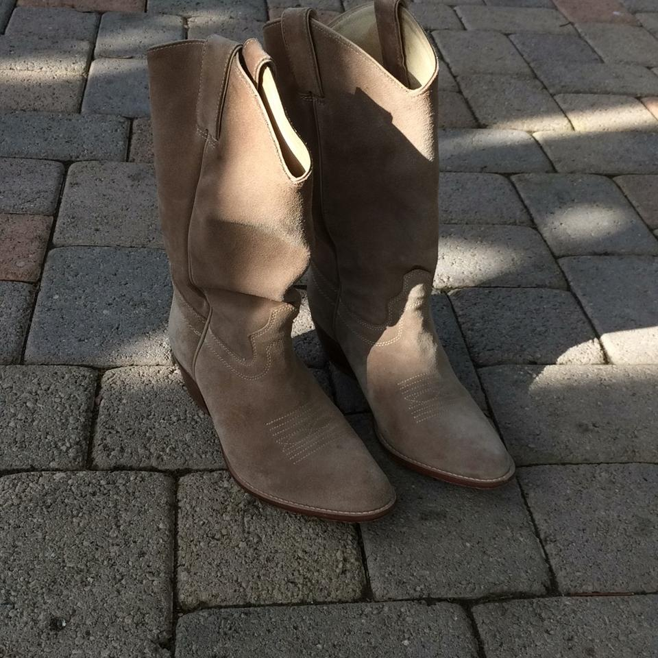 ef76f1187 Saks Fifth Avenue Tan Suede Western Boots/Booties Size US 8 Regular (M, B)  - Tradesy
