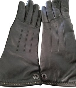 Coach Black Leather Gloves