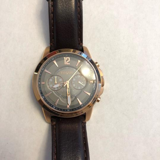 Fossil Men's Rose-tone Stainless Steel Chronograph Watch