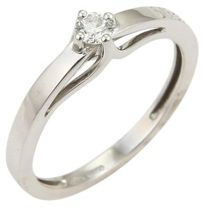 Damiani's Bliss KATE 0.16ct Solitaire Diamond 18k White Gold Ring