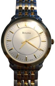 Bulova Men's Silver Dial Two-tone Stainless Steel Bracelet Watch