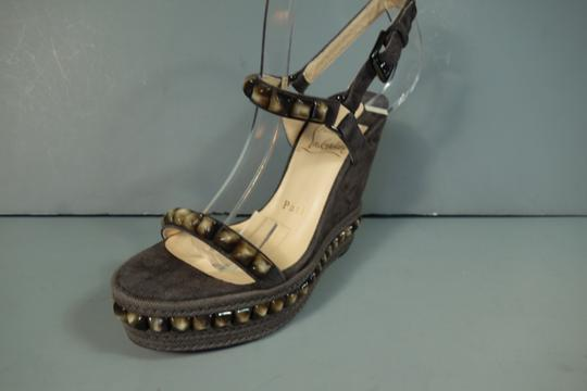Christian Louboutin Taupe Grey Brown Sandals