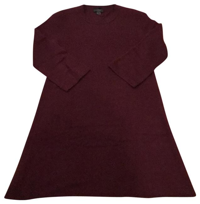 Preload https://img-static.tradesy.com/item/22676940/jcrew-burgundy-collection-cashmere-sweater-dress-tunic-size-8-m-0-1-650-650.jpg