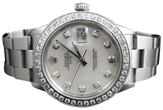 Preload https://img-static.tradesy.com/item/22676958/rolex-stainless-steel-mens-datejust-oyster-mop-dial-diamond-25-ct-watch-0-1-540-540.jpg