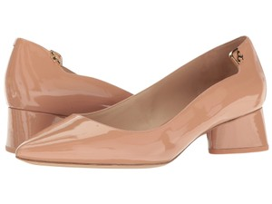 Tory Burch Nude Patent Leather Makeup Pumps