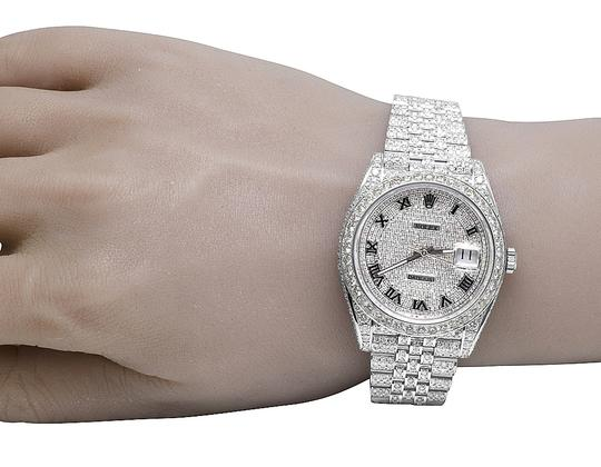 Rolex Mens Datejust II 126300 40MM S.Steel Pave Dial Diamond Watch 24.25 Ct