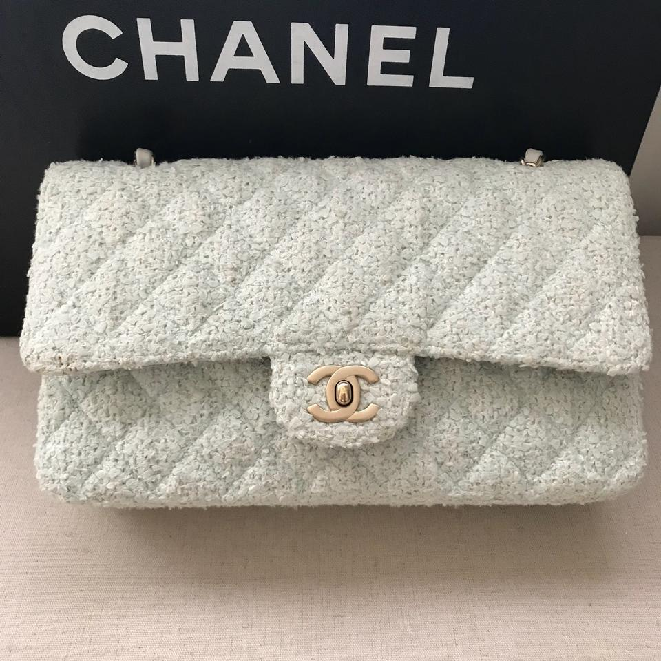 2b5eaa9349a974 Chanel Medium Double Flap Tweed Flap Shoulder Bag Image 11. 123456789101112