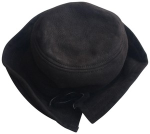 Saks Fifth Avenue Brown Shearling Hat from Saks 5th Ave NY