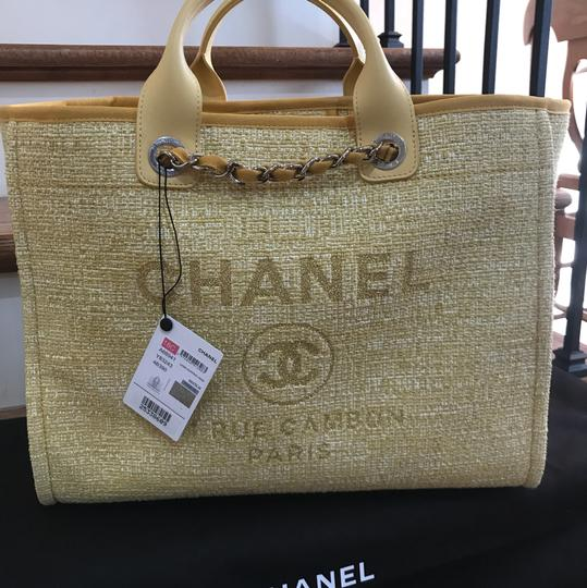 Chanel Deauville New Deauville New 2018 2018 Deauville New Tote in light yellow