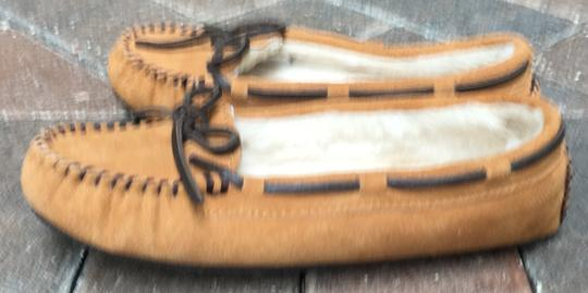 Minnetonka Mocassins Suede Driving Mocassins New W/O Tags Fur-lined Brown Flats