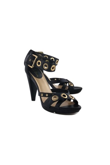 Cole Haan With Gold Grommets Black Pumps