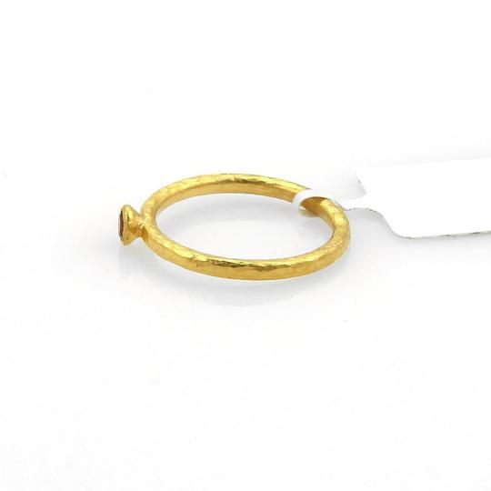 GURHAN Skittle 24k Gold & Spessartite Hammered Texture Ring