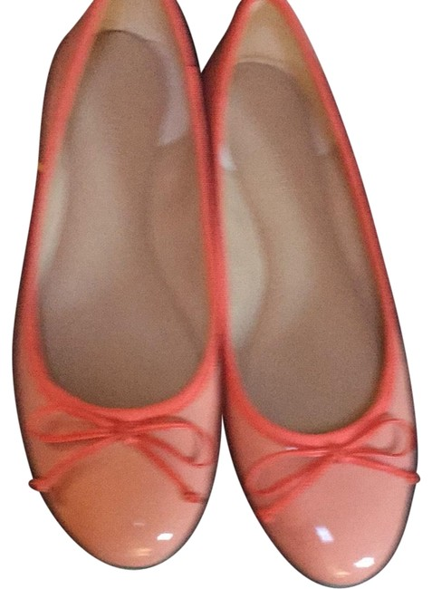 Item - Peach and Coral Ann Taylor Leather Flats Size US 9 Regular (M, B)