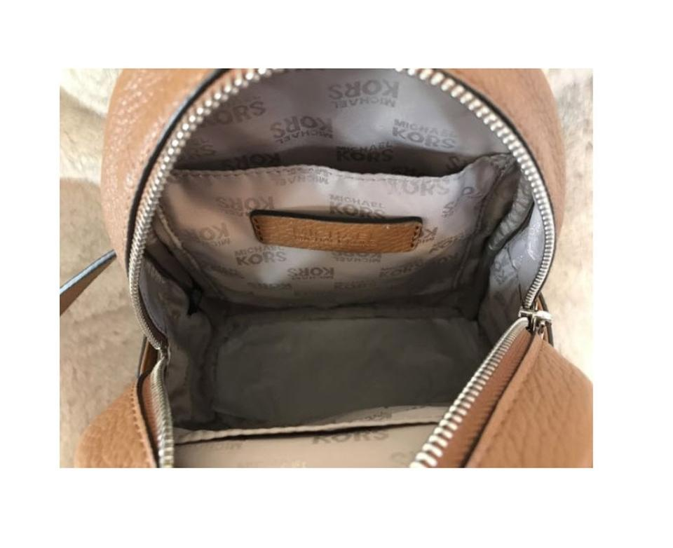 f99243467462 Michael Kors Leather Black Abbey Backpack Image 10. 1234567891011