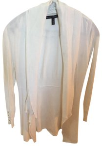 White House | Black Market Sweater Fancy Gold Buttons Classic White Jacket