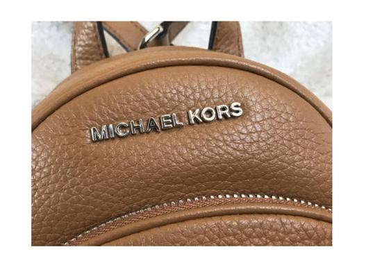 Michael Kors Leather Black Abbey Backpack