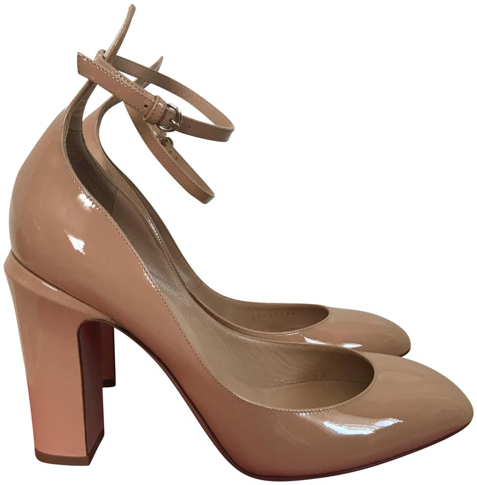 aa962e96ee Valentino Nude Tango Patent Leather Ankle Strap Pumps Size EU 40 ...