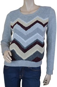 Rag & Bone Knit Chevron Textured Wool Sweater