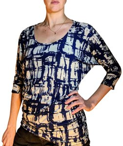 Market & Spruce Party Top Navy and White