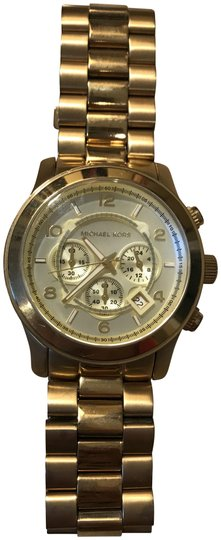 Preload https://img-static.tradesy.com/item/22677457/michael-kors-gold-oversized-chronograph-gold-tone-unisex-watch-0-1-540-540.jpg