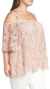 Vince Camuto Shirt Lace Top Pink