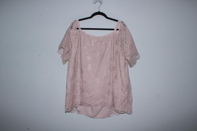 Vince Camuto Shirt Lace Top Pink Image 2