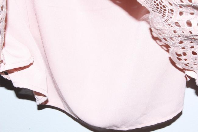 Vince Camuto Shirt Lace Top Pink Image 3