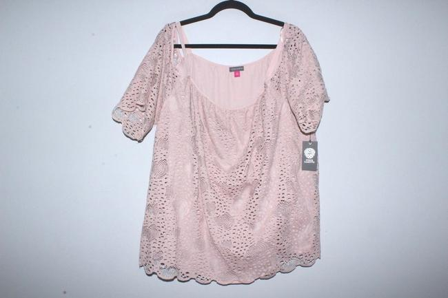 Vince Camuto Shirt Lace Top Pink Image 4