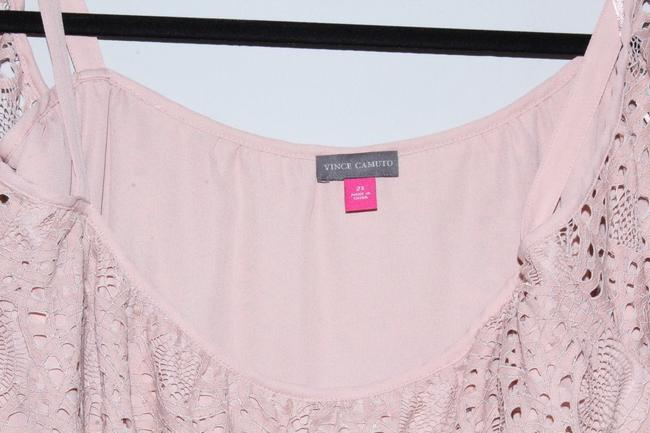 Vince Camuto Shirt Lace Top Pink Image 6
