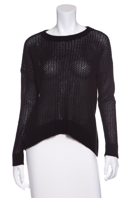 Preload https://img-static.tradesy.com/item/22677623/zadig-and-voltaire-black-deluxe-open-knit-cashmere-sweaterpullover-size-6-s-0-0-650-650.jpg