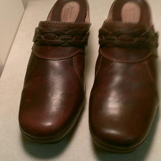 Clarks Brown Mules