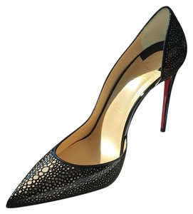 Christian Louboutin black and nude Pumps