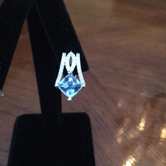 Other Diamond and Blue Topaz earrings